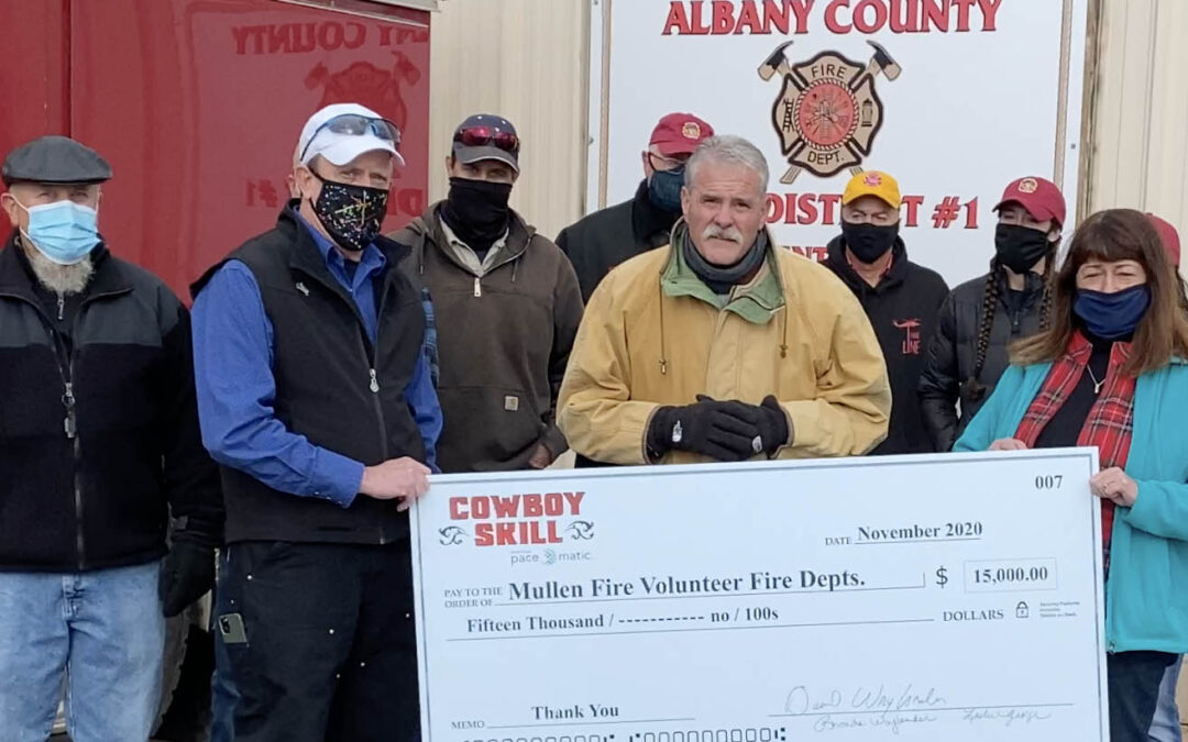 Cowboy Skill Games Gives $15,000 to Mullen Fire Volunteer Fire Departments