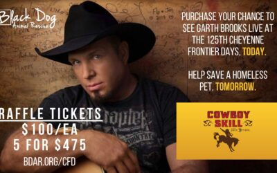 Cowboy Skill Games Donating Four Garth Brooks Tickets to Black Dog Animal Rescue