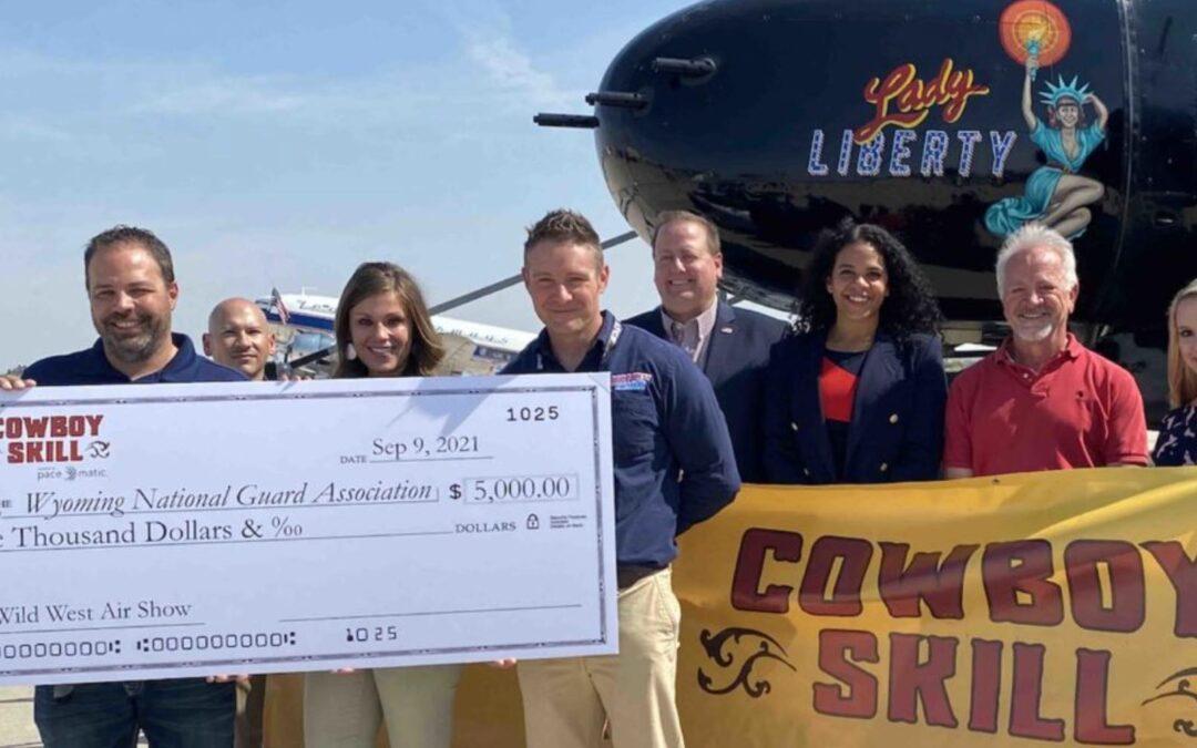 Cowboy Skill of Wyoming Presents $5,000 Check to Wyoming National Guard Association